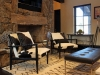 Gas stone fireplace and Smart TV