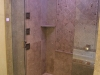 Walk in tile shower