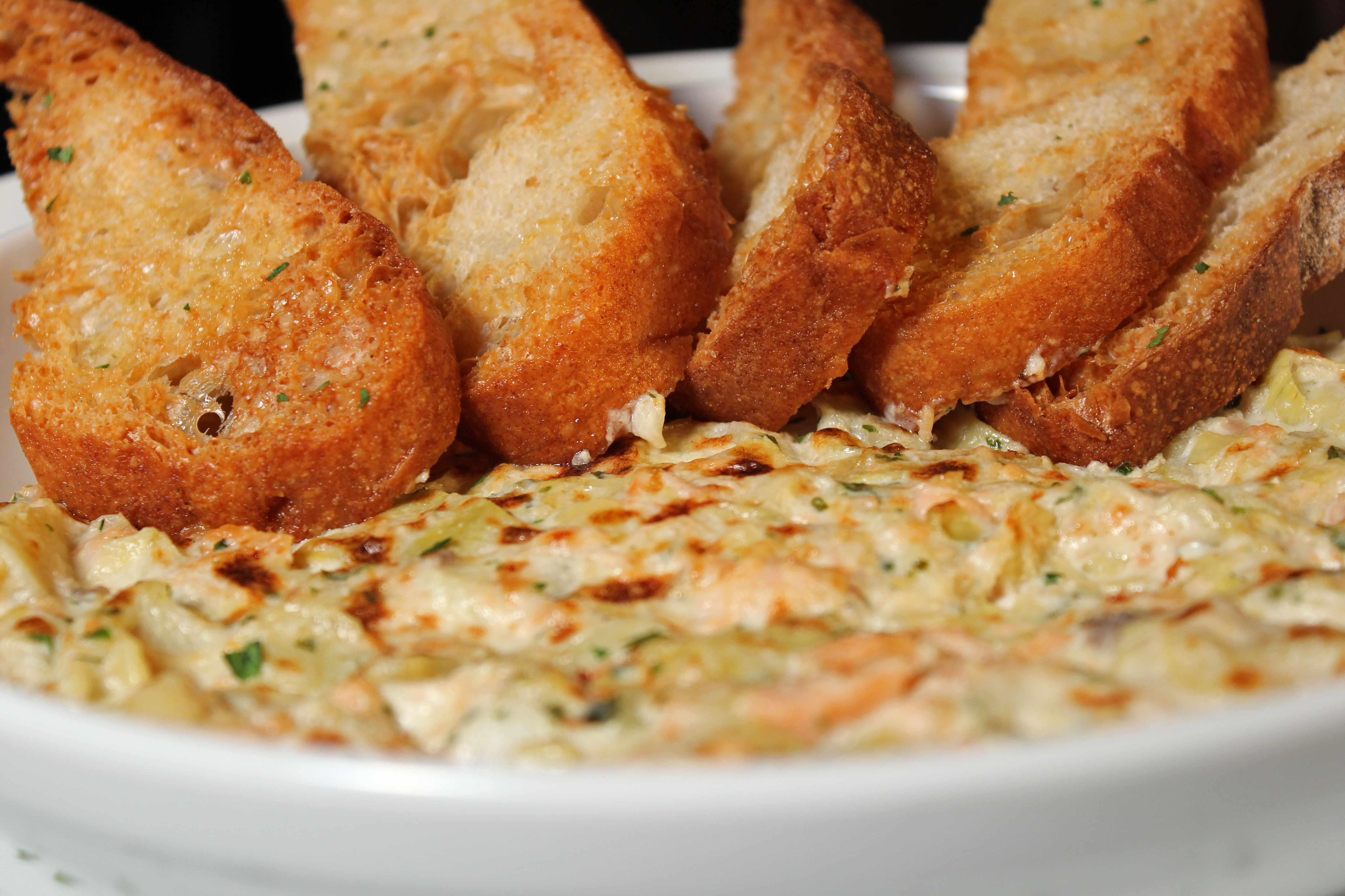 House Smoked Salmon Artichoke Dip